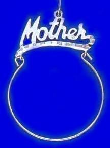 """Mother"" Charm Holder Rhodium Layered RD CH-13"