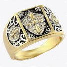 Christian Crusader Knights Templar Masonic Ring  A-412810