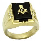Stainless Steel Agate Masonic Ring A-TK795