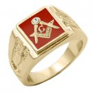 Freemason Signet Gold Plated Ring M-125 jg