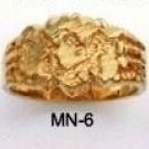 Nugget Ring Gold Or Rhodium Layered MN-6