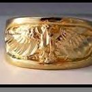 Eagle Ring Gold Or Rhodium Layered MN-11