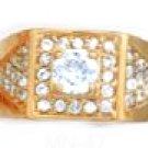 Stunning CZ Ring Gold Or Rhodium Layered MN-47