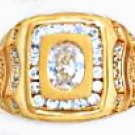 Superb CZ Ring Gold Or Rhodium Layered MN-50