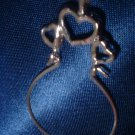 Triple Hearts Charm Holder Rhodium Layered RDCH-19
