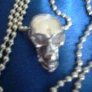 Rhodium Layered Skull Pendant RDMD-190