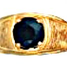 Jet Black CZ Ring Gold Or Rhodium Layered MN-65