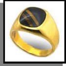 Tiger Eye Inlay Ring Gold Layered MN-70