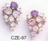 Amethyst Lilac Russian CZ  Earrings CZE-97