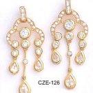 Chandelier CZ Gold Layered Earring CZE-126