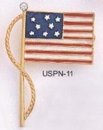 American Flag Pin Gold Layered USPN-11