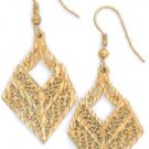 Filigree Vintage Earrings Gold Or Rhodium Layered  LE-4