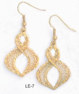 Stunning Filigree Earrings Gold Or Rhodium Layered  LE-7