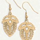 Filigree Acorn Earrings Gold  Layered  LE-2