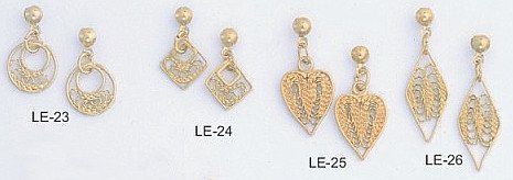 Filigree Earring Assortment  LE-23,24,25,26