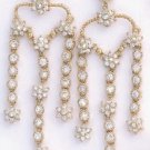 Chandelier CZ Floral Gold Layered Earring CZE-128