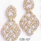 Royalaty CZ Gold Layered Earring CZE-127