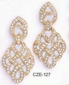 Royalaty CZ Gold Layered Earring CZE-127
