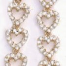 Sparkling Hearts Dangle Earrings  CZE-122