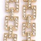 Sparkling Squares Dangle Earrings  CZE-121