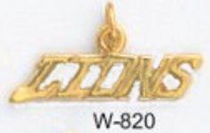 "Detroit ""LIONS"" NFL Football Team Pendant Gold Or Rhodium W-820"
