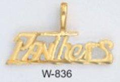 "Carolina ""PANTHERS"" Football Team Pendant Gold Or Rhodium W-836"
