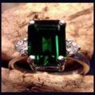 2.50 Carat Emerald Cut Helenite Ring SHR-3