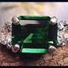 Three Stone Emerald Cut Helenite White Topaz Ring SHR-5