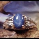 Star Sapphire  2.50 Carat Ring With Beautiful Leaf Design Setting SSR-1