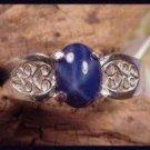 Star Sapphire  2.50 Carat Filigree Ring SSR-3