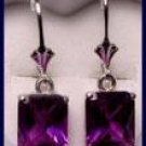 Three Carat Alexandrite Leaver Back Earrings AL -ER1