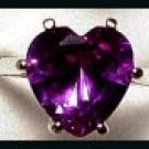 Alexandrite Two Carat Heart Ring A-19