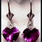 Alexandrite Two Carat Heart Earrings A-19P