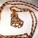 Christmas Bells Pendant Necklace 2  G-164-47C