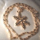 Christmas Snowflake Pendant Necklace   G-180-47C