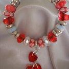 Cascading Hearts European Bead Pandora Bracelet