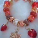 Sweet ,Smart Sexy Hearts European Bead  Bracelet