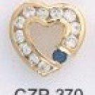 Russian CZ Heart Pendant CZP-370