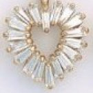 Baguette Heart Pendant CZP-394