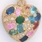 Multi Color CZ Heart Pendant CZP-404