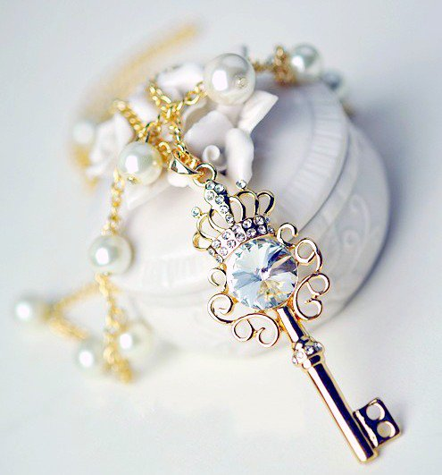 Luxury Crown and Key Shaped Necklace