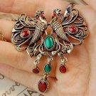 Vintage Peacocks Necklace