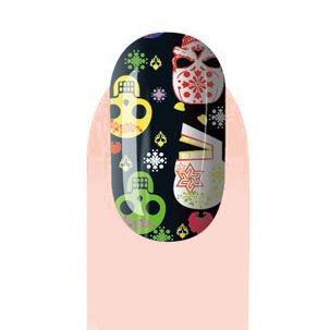 Colorful Skull Pattern Nail Stickers