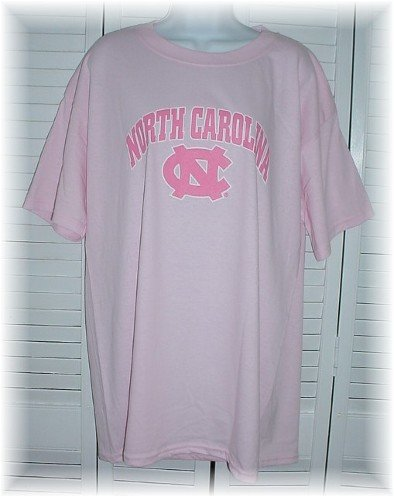 UNC Chapel Hill University of North Carolina Tarheels NCAA Ladies PINK T-Shirt ~ Adult L Large