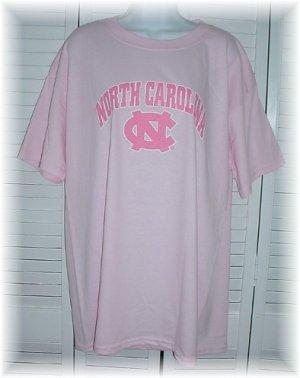 UNC Chapel Hill University of North Carolina Tarheels NCAA Ladies PINK T-Shirt ~ Adult L Large