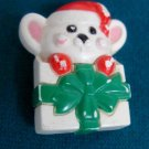 Avon Christmas Mouse Pin Brooch Vintage
