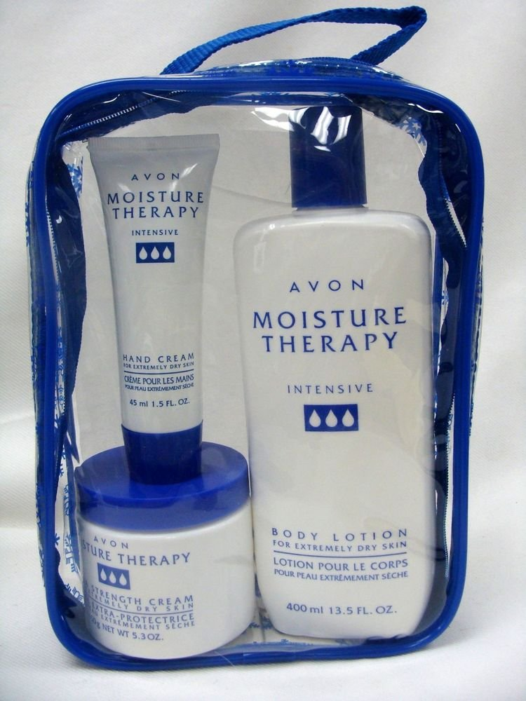 Avon Moisture Therapy Intensive Body Lotion, Extra Strength Cream, & Mini Hand