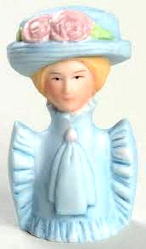 Avon American 1982 Fashion Women Lady Blue Hat Thimble No Box