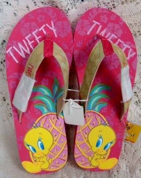 Warner Brothers Tweety Bird Pink Womens Ladies Sandals Size 7-8