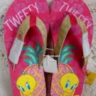 Warner Brothers Tweety Bird Pink Womens Ladies Sandals Size 7-8